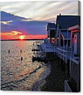 Sandy Neck Sunset At The Cottages Canvas Print