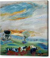 Sandy Ridge Cattle Canvas Print