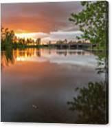 Sandy River Sunset Canvas Print