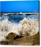 Sandy Surf Splash Canvas Print