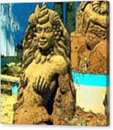 Sandy The Mermaid Canvas Print