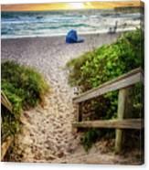 Sandy Walk Down To The Beach Canvas Print