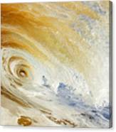 Sandy Wave Crashing Canvas Print