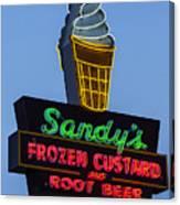 Sandys Frozen Custard - Austin Canvas Print