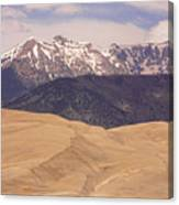 Sangre De Cristo Mountains And The Great Sand Dunes Canvas Print