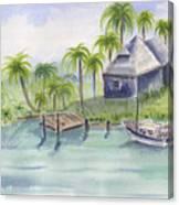 Sanibel Castaways View Over Bay Canvas Print