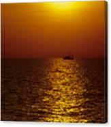 Sanibel Shrimp Boat At Sunset Canvas Print