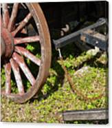 Sanibel Village Wagon Wheels Canvas Print