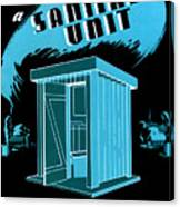 Sanitary Unit Fap Poster Canvas Print