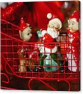 Santa And His Elves Canvas Print
