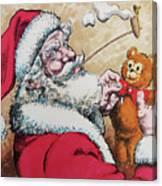 Santa And Teddy Canvas Print