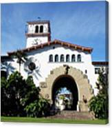 Santa Barbara Courthouse -by Linda Woods Canvas Print