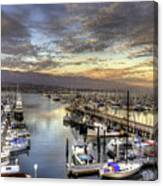 Santa Barbara Harbor Sunset Canvas Print