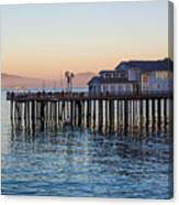 Santa Barbara Wharf At Sunset Canvas Print