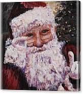 Santa Chat Canvas Print