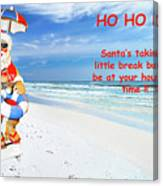 Santa Christmas Greeting Card Canvas Print