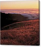 Santa Cruz Mountains At Sunset Ca Usa Canvas Print