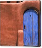 Santa Fe Gate No. 3 - Rustic Adobe Antique Door Home Country Southwest Canvas Print