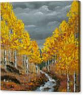 Santa Fe River Aspens Canvas Print