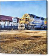 Santa Fe Train In Ardmore Canvas Print