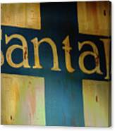 Santa Fe Vintage Sign Canvas Print