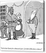 Santa For A Thousand Years Canvas Print
