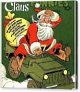 Santa In A Hurry Canvas Print