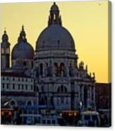 Santa Maria Della Salute On Grand Canal In Venice Against The Evening Sky Canvas Print