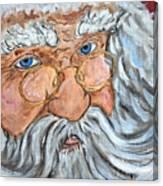 Santa - Merry Christmas Art Canvas Print
