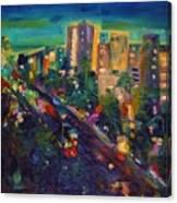 Santa Monica Glow Canvas Print