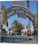 Santa Monica Yacht Harbor At Santa Monica Pier In Santa Monica California Dsc3669sq Canvas Print
