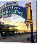 Santa Monica Yacht Harbor Sign Canvas Print