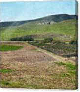 Santa Ynez Mountains Green Hills Ranch Canvas Print