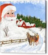 Santas Beard Canvas Print