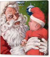 Santas Little Helper Canvas Print