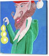 Santa's Ornament Painter Elf Canvas Print
