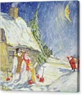 Santa's Visit Canvas Print
