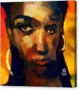 Santia In Orange 726 Canvas Print