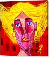 Santia Sour Face 1060 Canvas Print