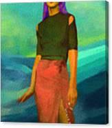 Santia Walking On Water Canvas Print
