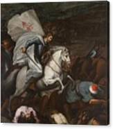 Santiago At The Battle Of Clavijo Canvas Print
