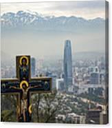 Santiago Chile Panoramic Canvas Print