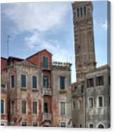 Santo Stefano Venice Leaning Tower Canvas Print