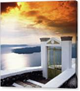 Santorini - The Gate Canvas Print