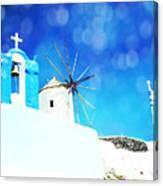 Santorini 1 Canvas Print