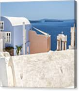 Santorini Blue House In Oia Canvas Print