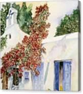 Santorini Door Canvas Print