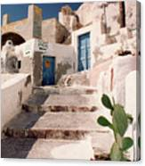 Santorini Entryway Canvas Print