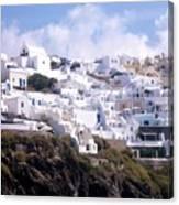 Santorini Hillside 2 Canvas Print