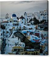 Santorini Misty Morn Canvas Print